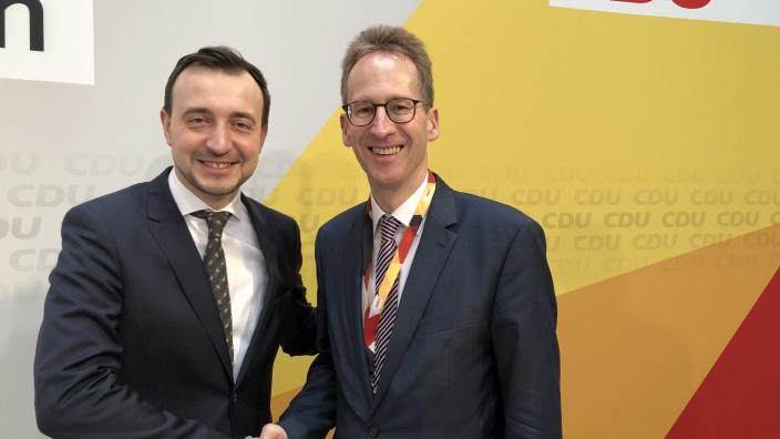 CDU-Generalsekretär Paul Ziemiak und Detlef Seif MdB trafen sich am Montag in Berlin
